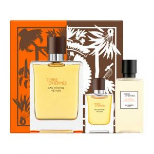 Estuche Hermes Terre D´Hermes Eau Intense Vétiver + Miniatura Eau de Parfum 5ml + Gel de Ducha 40ml
