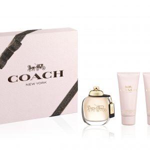 Estuche Coach Edp 90 ml + Loción Hidratante 100 ml + Gel de Ducha 100 ml