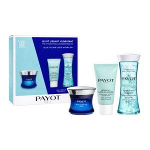Estuche Payot Blue Techni Liss Jour 50 ml + Hydra 24+ Baume-En-Masque 15 ml + Hydra 24+ Essence 125 ml