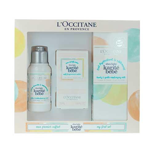 L'Occitane Karité Bebe Lote Lait Hydratant and Calmant Shea Baby 100ml + Creme Lavante and Moussante 75ml + Eau Perfumee Baby 50ml