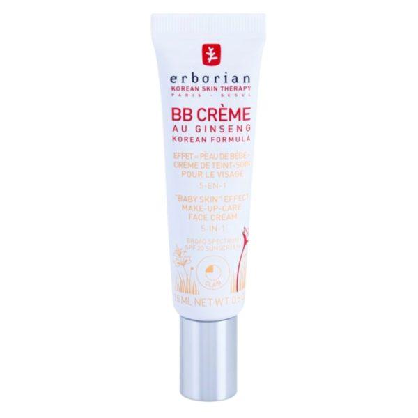 Erborian BB Crème Au Ginseng Baby Skin 5 in 1 Clair SPF 20 15 ml